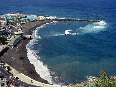 windguru spain puerto de la cruz schwarzer strand von puerto de la cruz foto bild