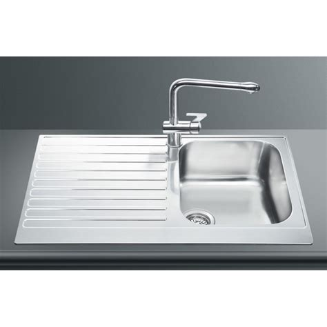 Smeg Kitchen Sinks Smeg Lpd861s Kitchen Sink 1 Bowl Piano Design Stainless Steel Fab