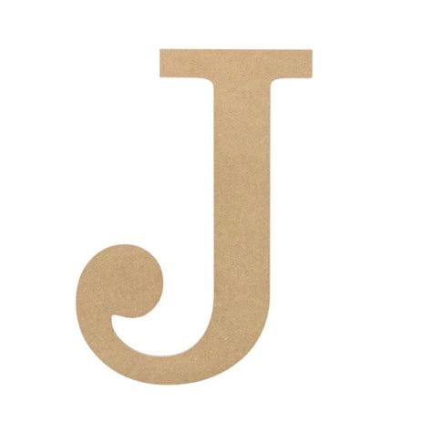 "10"" Decorative Wood Letter: J [AB2034] - CraftOutlet.com J"