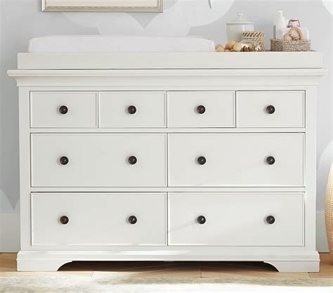 Larkin High Low Changing Table Larkin Wide Dresser Topper Set Pottery Barn