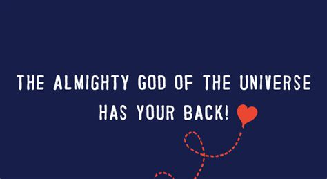 the universe has your the almighty god of the universe has your back nothing wasted thrift