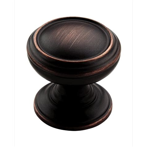 bronze kitchen cabinet knobs shop amerock revitalize rubbed bronze cabinet knob at lowes