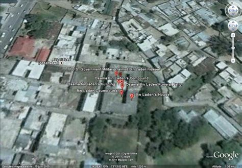 bin laden abbottabad google earth mort d oussama ben laden 224 abbottabad pakistan