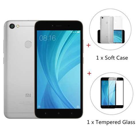 Soft Cover Black Mate Xiaomi Redmi 5a Free Tempered Glass Clear package global version xiaomi redmi note 5a 3gb 32gb