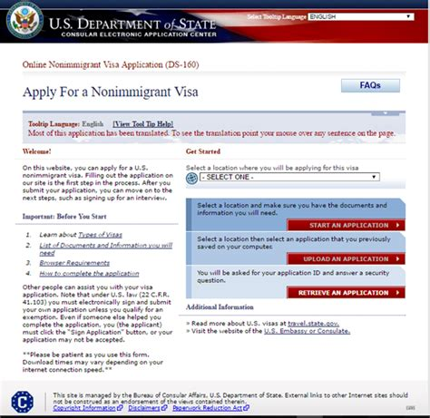 how to apply for us tourist visa in us embassy oslo