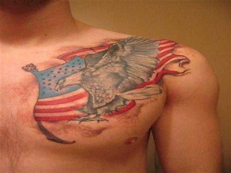 chest tattoo american flag awesome american flag tattoo on chest images22 com