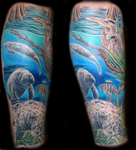 manatee tattoo large image leave comment