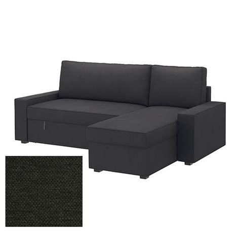 dark grey sofa slipcover ikea vilasund sofa bed with chaise longue slipcover