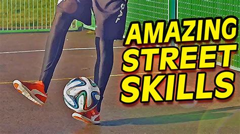 Skill Football Freestyle Tutorial | insane street football skills soccer freestyle trick
