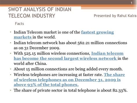 Mba Ppt On Telecommunication Industry swot analysis indian telecom industry ppt