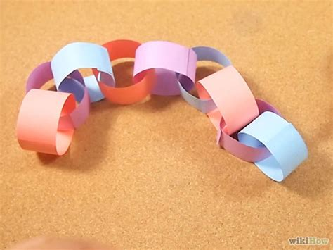 How To Make Paper Chain - how to make a paper chain 5 steps with pictures wikihow