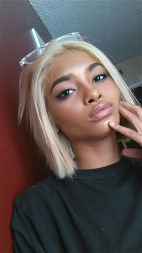 blonde bob dark skin silver hair on dark skin google search characters and