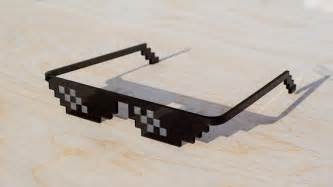 Pixel Sunglasses Meme - deal with it thug life pixel real life glasses