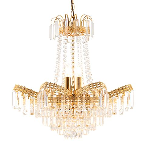 Simple Gold Chandelier Endon Adagio 9 Light Chandelier With Glass Drops Gold
