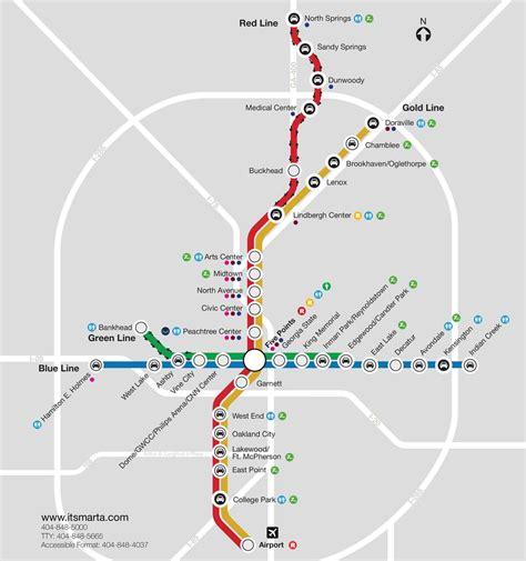 marta map atlanta marta rail system map atlanta chionship