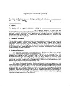Generic Non Disclosure Agreement Template legal confidentiality agreement best resumes