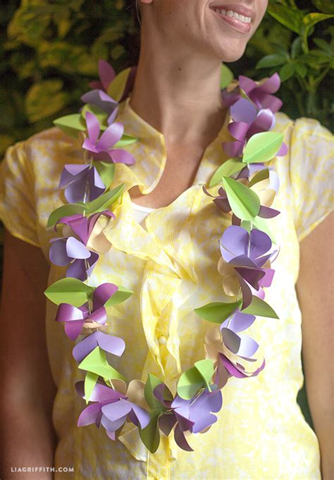 How To Make Paper Flower Leis - make a tropical paper flower roxwell press
