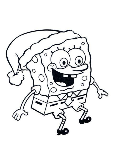 imagenes de navidad para colorear net dibujos para colorear de bob esponja en navidad con el