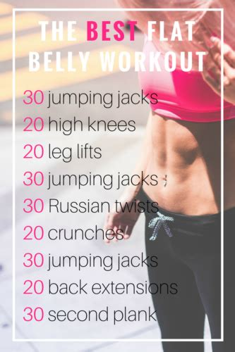 best workout for the best flat stomach workout at home