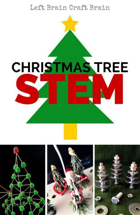 christmas tree stem activities tree stem holiday