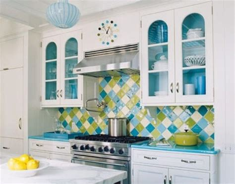 colourful kitchens 36 colorful and original kitchen backsplash ideas digsdigs