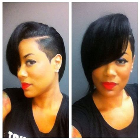 shaved sides hairstyles women with weave mohawk sew in side short hairstyle 2013