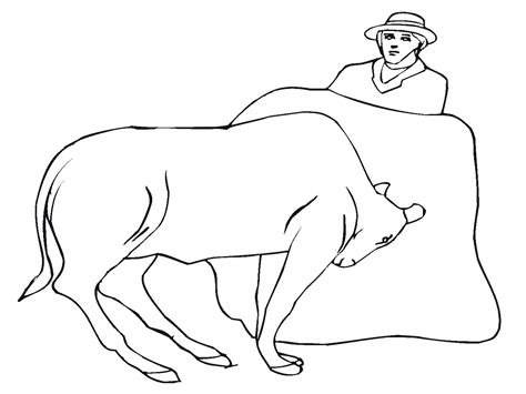 Bull Printable Coloring Pages Bull Coloring Page