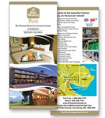 best western card graphic design rack card design for best western