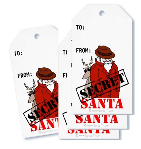 Secret Santa Gift Cards - buy funny and whimsical holiday greeting cards