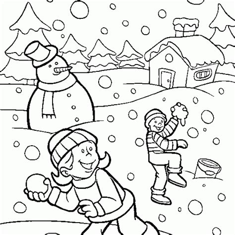 winter coloring free winter coloring children snow