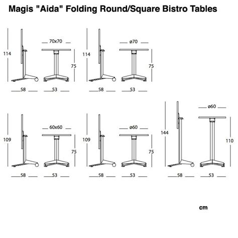 aida folding tables from magis