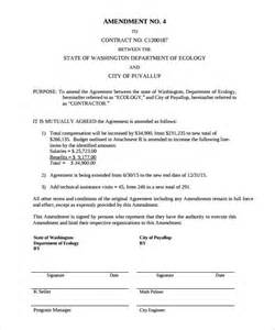 Contract Amendment Template by Contract Amendment Template 11 Documents In Pdf