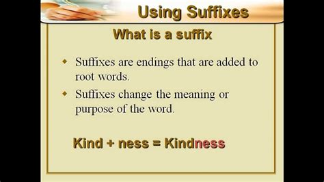 Is A by What Is A Suffix
