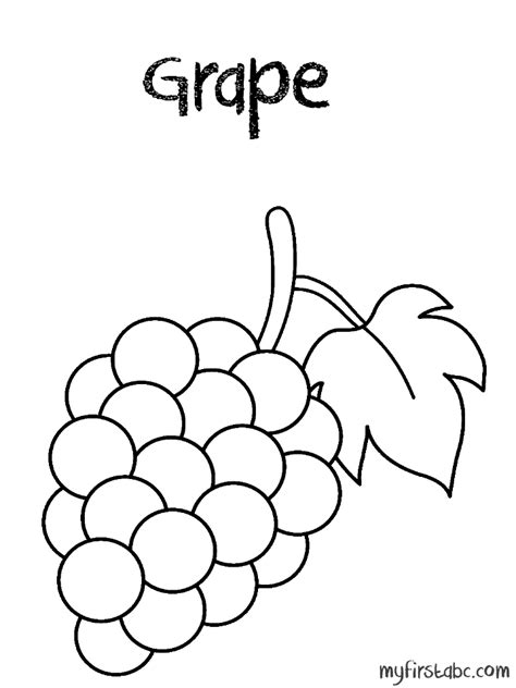 Grapes Coloring Pages free coloring pages of green grapes