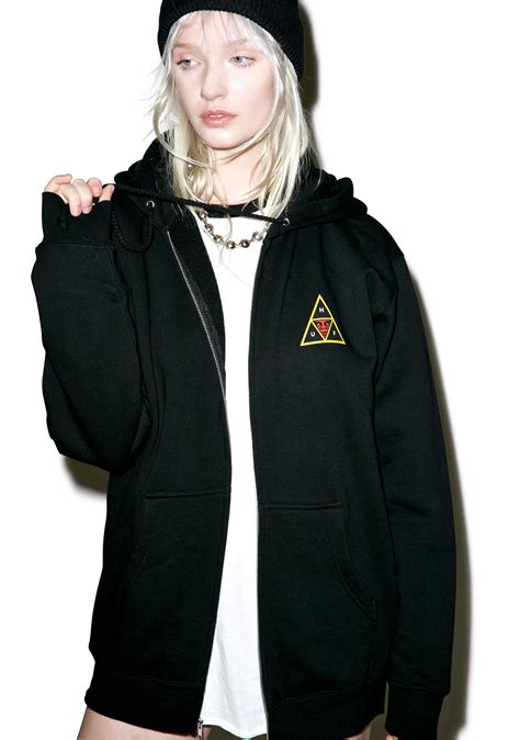 Hoodiezipper Obey huf huf x obey icon zip hoodie dolls kill