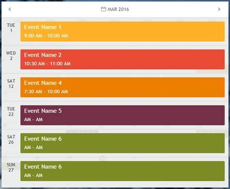 Jquery Calendar Plugin Monthly Js A Jquery Based Responsive Calendar Plugin