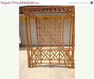 Bamboo Canopy Bed For Sale Big Sale Vintage Faux Bamboo Chippendale By