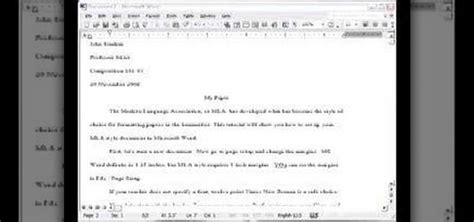 Writing Essays In Mla Format by How To Set Up An Mla Style Essay In Ms Word 171 Microsoft Office Wonderhowto