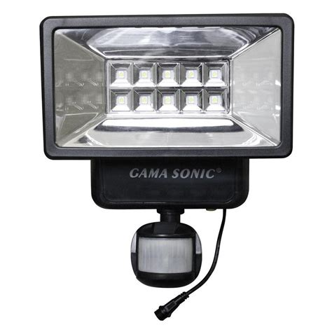 security light with gama sonic 160 176 black outdoor solar powered security light