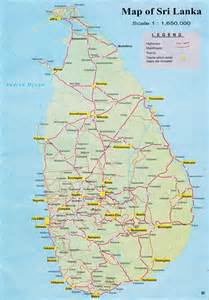 road map with cities maps of sri lanka detailed map of sri lanka in