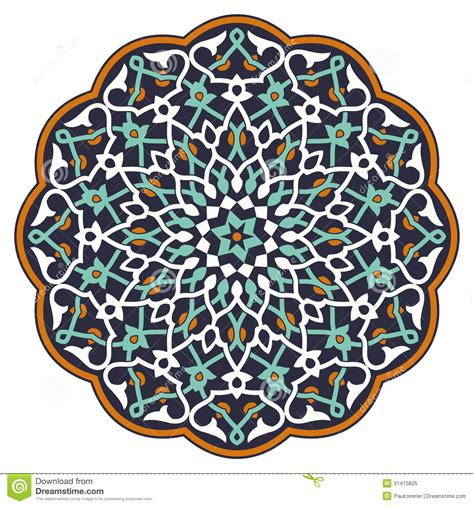 pattern matching over vector arabic circular pattern stock vector image of vintage