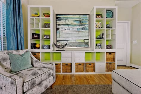 Ikea Billy Bookcase White Lime Green Colors Combination In An Eclectic Family Room Minimalist | ikea billy bookcase white lime green colors combination in
