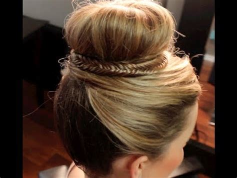 princess bun hairstyles how to hair pinterest updo princess top bun youtube