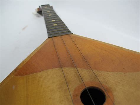 String Triangle - vintage balalaika russian three string wood triangle