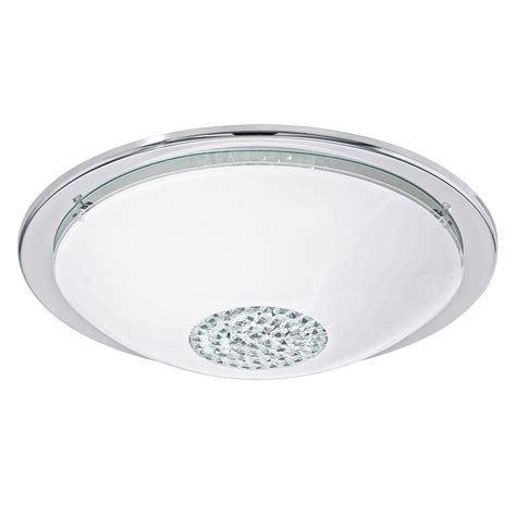eglo fueva 1 matte nickel integrated led ceiling light