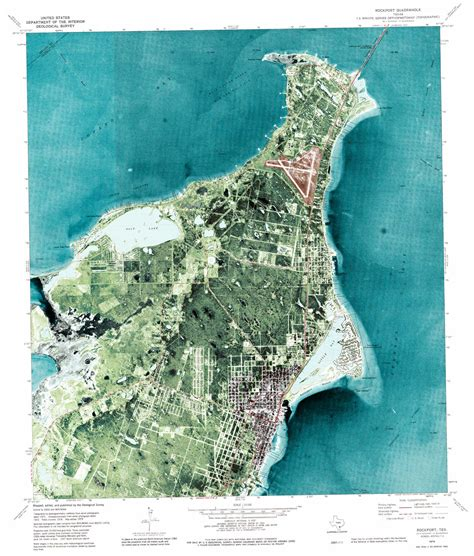 rockport map rockport topographic map tx usgs topo 28097a1