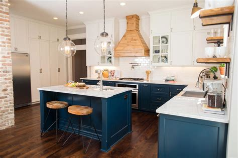 blue kitchen cabinets ideas photos hgtv s fixer upper with chip and joanna gaines hgtv