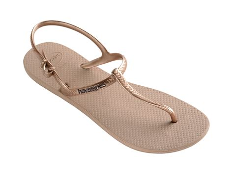 havanas slippers havaianas havaianas sandals in gold freedom