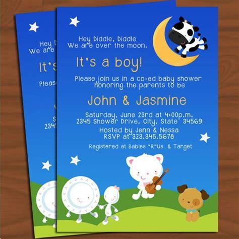 Baby Shower Invite Rhymes by Nursery Rhyme Baby Shower Invitation Illustration