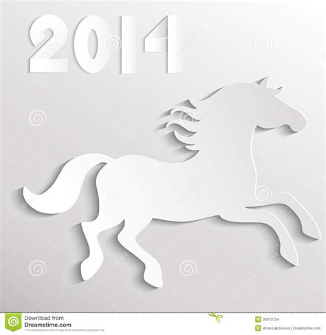 paper horse stock vector image of artistic animal